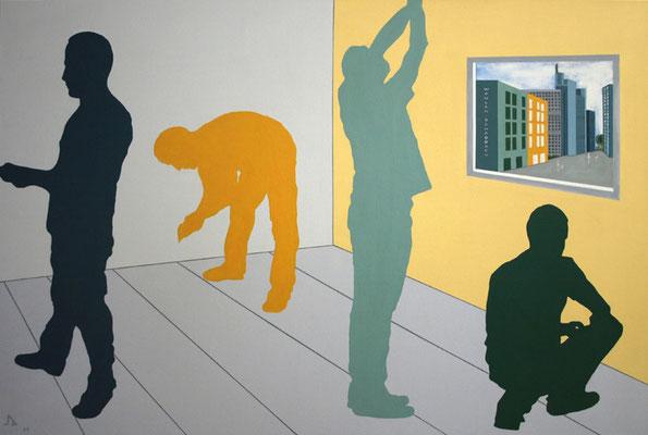 W&S, 135 x 90 cm, Acryl auf Leinwand, 2011