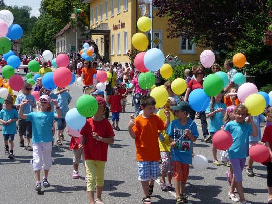 ASV Kids beim Festumzug
