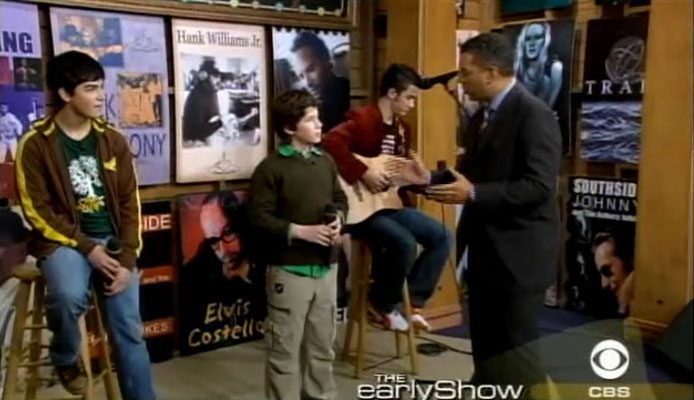 Jonas boys on the Early Show, Nov. 6 2004. Second interview. CREDIT: NJB and CBS