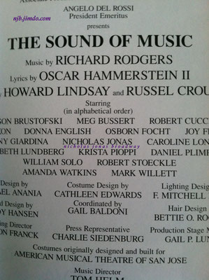 credit Meg's personal playbill