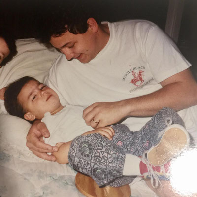 Cutest snapshot, Joe and dad + half a Kevin on the left? - shared by Joe.