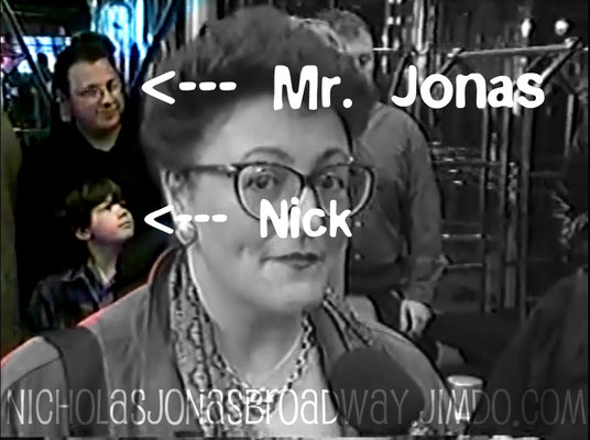 Nick and his father in the background of a video interview for Gypsy of the Year 2001- Credit NJB