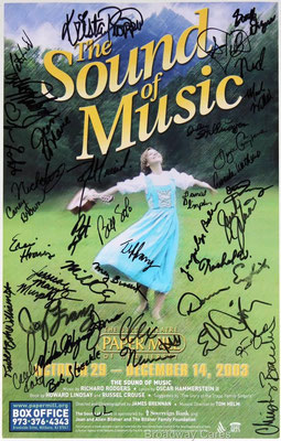 Poster signed by the cast. Nick's autograph is on the left, right under the title. From ebay.