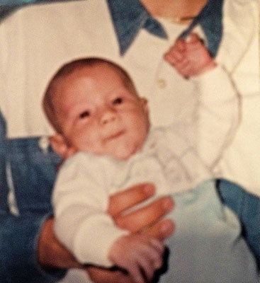 Tiny chubby cuteness! Shared by Mrs. Jonas on Nick's 26th B-Day on her IG!