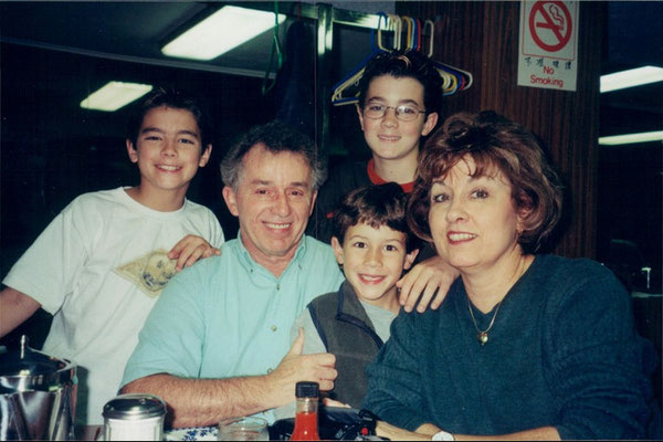 With their maternal grandparents.