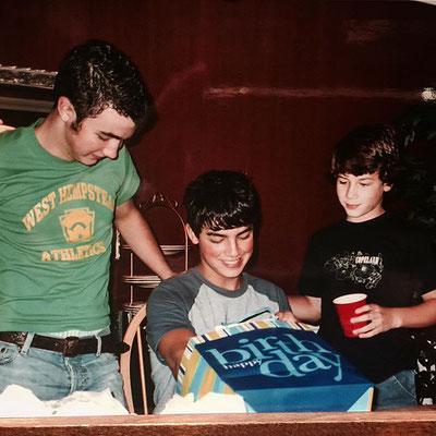 Celebrating Joe's birthday.