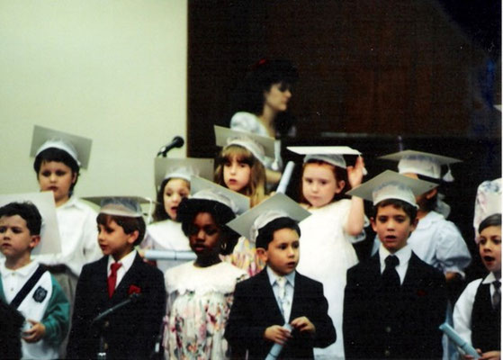 Kevin in his kindergarten graduation- back in Dallas, Texas.