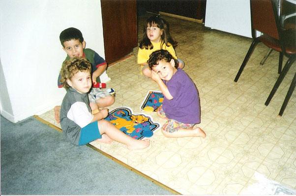 Little Nick with childhood friends Ian and Lu Alone (credit Lu!)