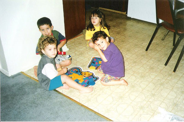 Little Nick with childhood friends Ian and Lu Alone (credit Lu!)