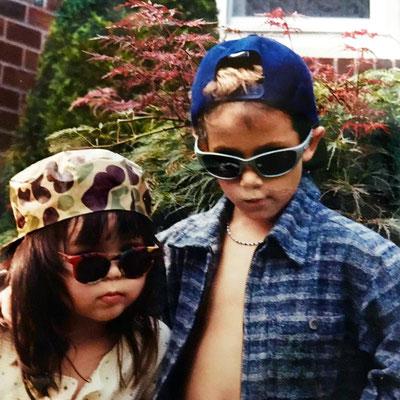 Nick, 7, with his friend Maya, 4.