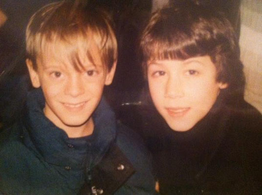 "CREDIT: @nickimmouse  on Twitter ""my brother and Nick Jonas when they were little..."""
