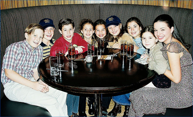 Daniel, Patrick, Nicholas, Tiffany, Alix, Allison, Krista, Caroline, and Elizabeth celebrating the opening night