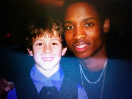 """Little Nicholas with Deon Ridley!   CREDIT @deonridley """"blast from the past A Christmas Carol Broadway!! Hope youre well little Nicholas!:-)"""""""