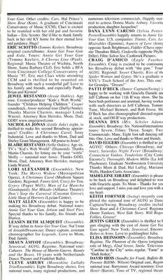 cast bio page (July 2001)