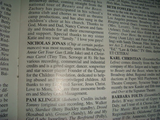 Nick's bio (2001) - Credit ebay
