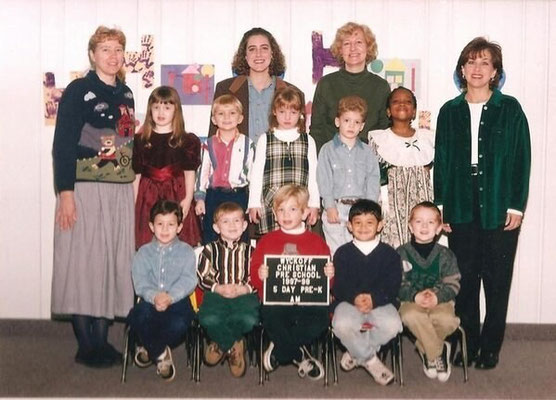 Nicholas and his pre-school class- Wyckoff Christian pre-school, 1997-1998. Credit: original owner