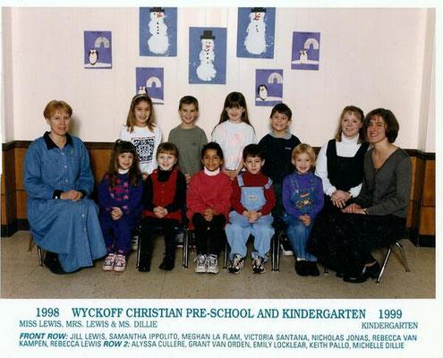 Nicholas and his Kindergarten class - Wyckoff Christian, 1998-1999