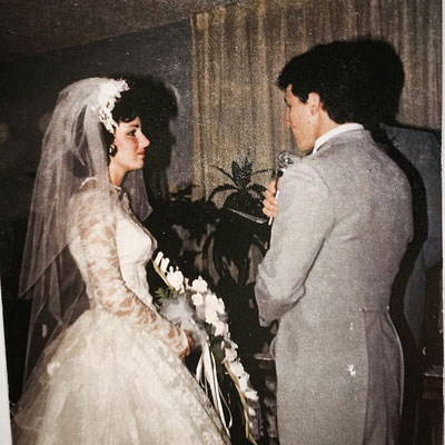 How sweet is this photo of Kevin singing to Denise on their wedding day?