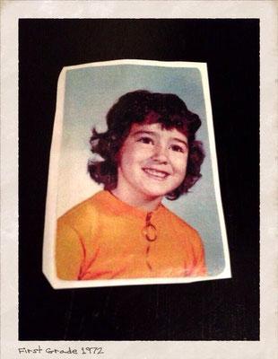 Little Denise in her first grade.
