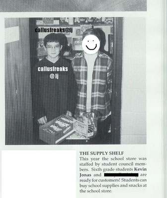 Kevin and a friend in the yearbook- Eastern Christian Middle School, grade 6.