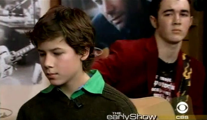 Jonas boys on the Early Show, Nov. 6 2004. Please Be Mine. CREDIT: NJB and CBS