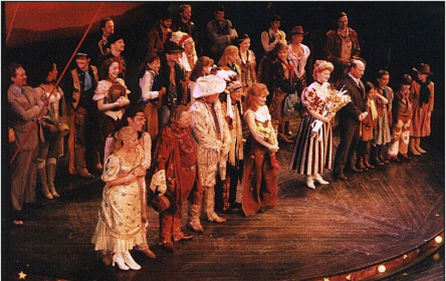 The final Broadway performance curtain call. Thanks to Kerry O'Malley