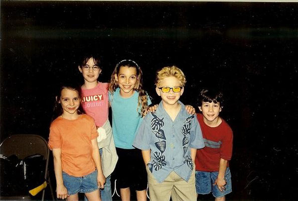 Nick, the girls, and Jonathan Lipnicki