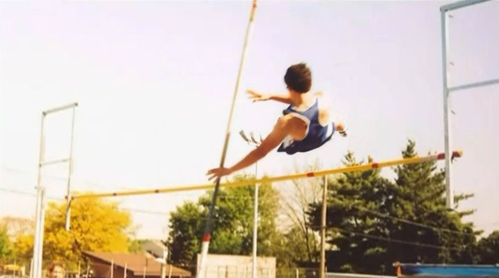 Kevin pole vaulting for his high school Track and Field team- 2004