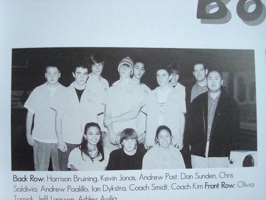 Kev and a... bowling team? Eastern Christian... High?