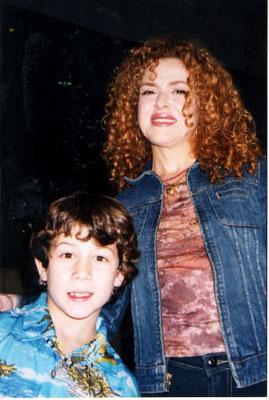 Nick with Bernadette Peters (former/original Annie) - credit nicholasjonas.com