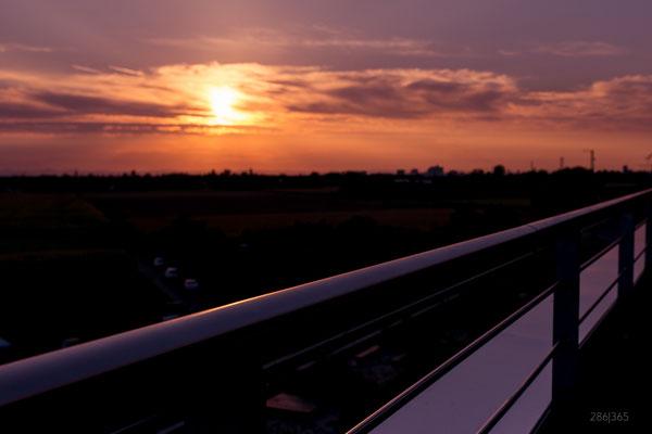 286|365 11.09.2016 - Sonnenuntergang, gesehen von der Bahnstadt