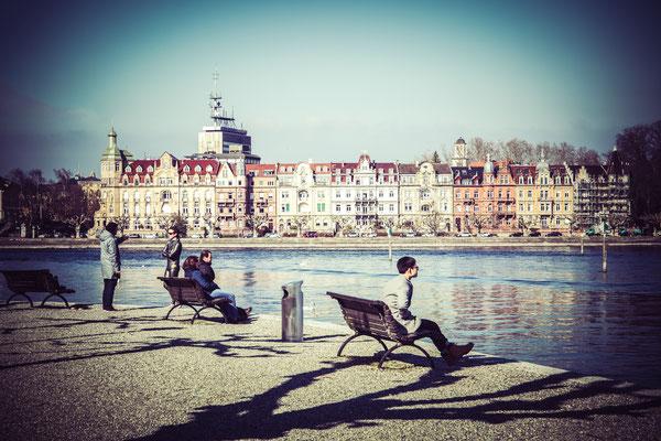 100|365 09.03.2016 Blick vom Stadtgarten auf die Seestraße, Konstanz