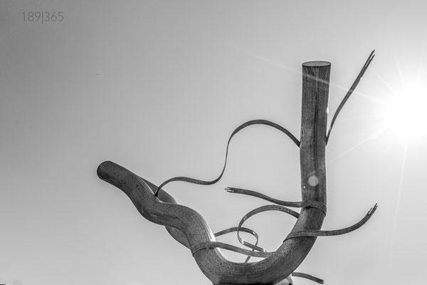 189|365 06.06.2016 - Spagetti-Säule am Bismarkplatz, Heidelberg  (Brunnenplastik des Bildhauer-Ehepaars Matschinsky-Denninghoff)