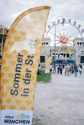 Königsplatz München - Sommer in der Stadt