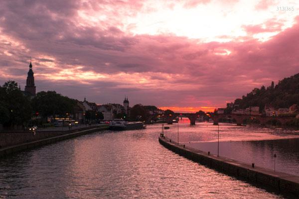313|365 08.10.016 - Sonnenuntergang überm Neckar