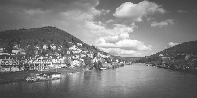 87|365 25.02.2016 - Panorama in schwarzweiß (Heidelberg)