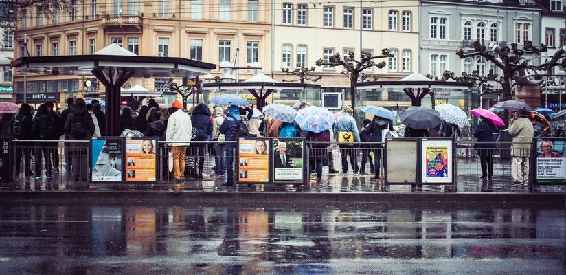 66|365 04.02.2016 - Heute mit Schirm! (Bismarckplatz, Heidelberg)