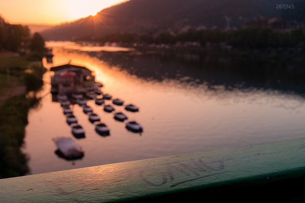 287|365 12.09.2016 - Auf dem Weg zur Arbeit - Sonnenaufgang über dem Neckar