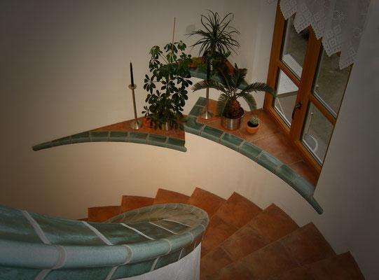 Treppe und Geländer harmonieren