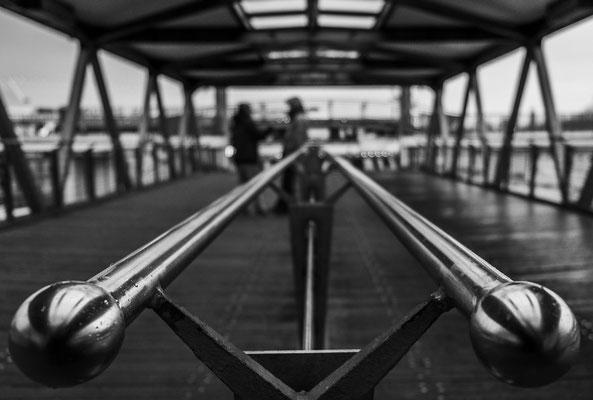 Führende Linien an den Hamburger Landungsbrücken