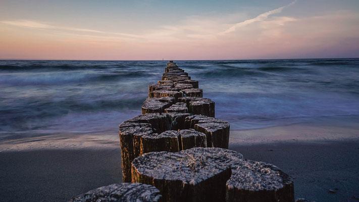 Buhnen an der Ostsee in Kühlungsborn