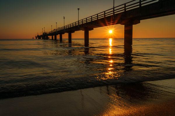 Sonnenaufgang an der Ostsee bei Ahlbeck auf der Insel Usedom