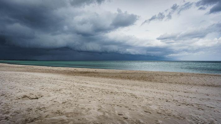 Herannahendes Unwetter an der Ostsee