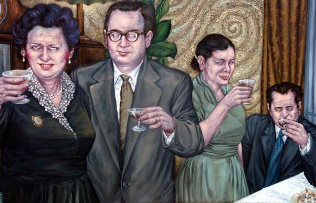 Gemälde 410  Trinker  , Acryl auf Leinwand,2012,   65 x 100 cm