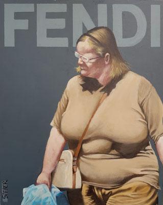 Gemälde 655,FENDI Vol 2,Acryl auf Hartfaserplatte ,2020,30 x 24 cm