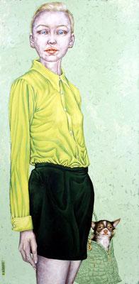 Gemälde 261, Sander und Jill  Acryl auf Leinwand,2008,  70 x 140 cm