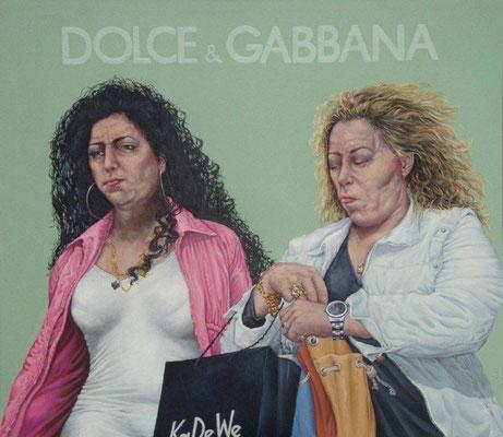 Gemälde 427,   D.&G. Acryl auf Leinwand,2012,   160 x 140 cm