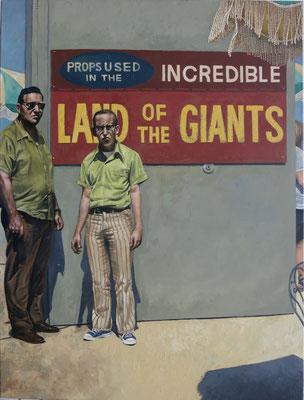 Gemälde 549, Giganten, Acryl auf Leinwand, 2017, 90 x 120 cm