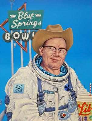Gemälde 607,Blue Springs, Acryl auf Hartfaserplatte,   2019 , 60x 80 cm