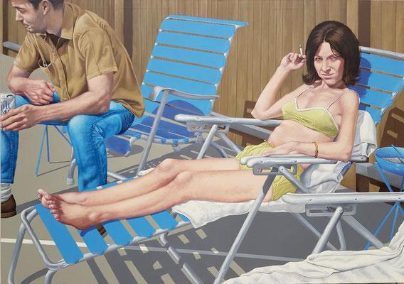Gemälde 612,ON THE SUNNY SIDE...., Acryl auf Leinwand, 2019, 120 x 170 cm